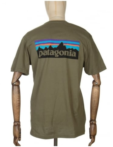Patagonia S/S P-6 Logo T-shirt - Fatigue Green