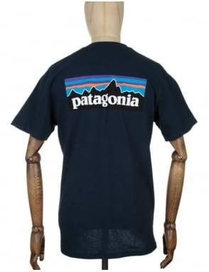 Patagonia S/S P-6 Logo T-shirt - Navy Blue