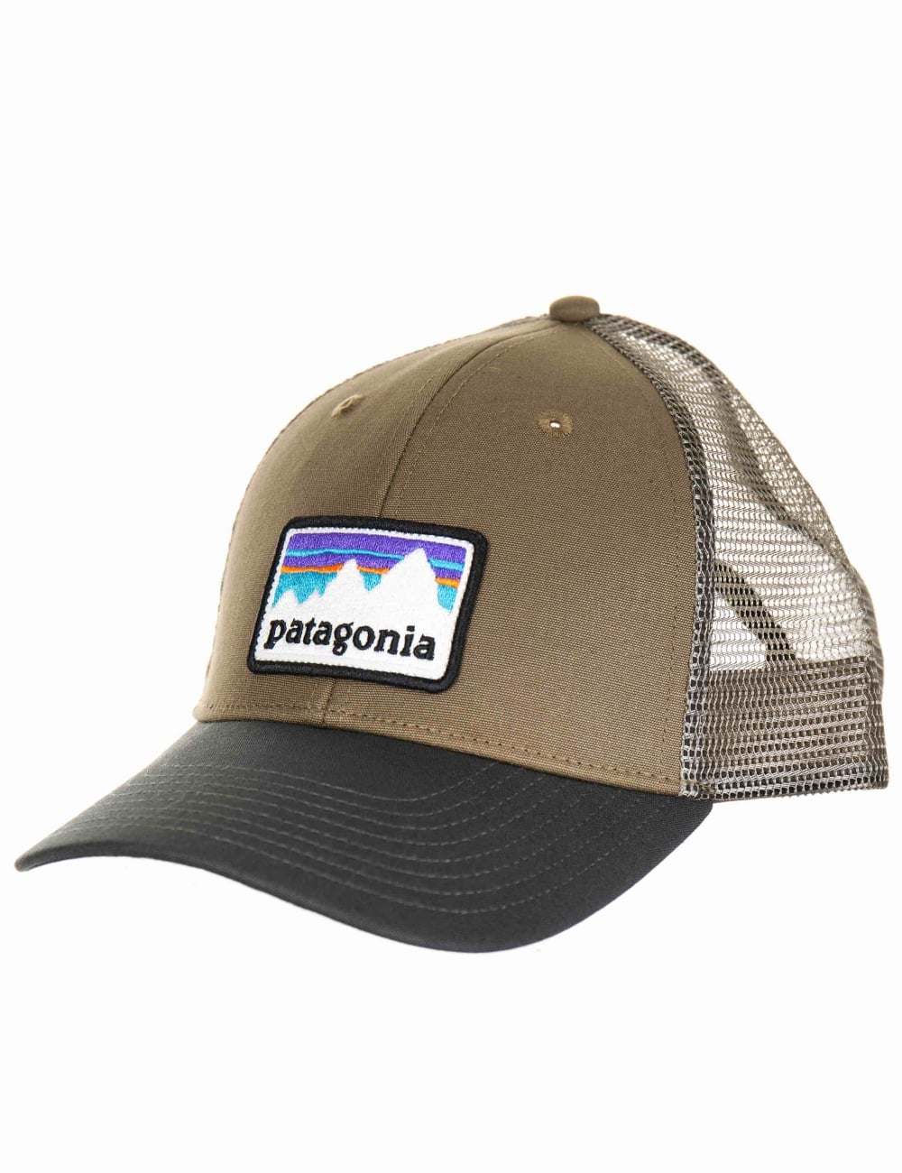 5b3a872ec45 Patagonia Shop Sticker Patch LoPro Trucker Hat - Dark Ash ...