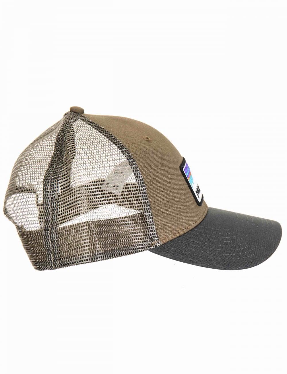 226a83c0a03560 Patagonia Shop Sticker Patch LoPro Trucker Hat - Dark Ash ...