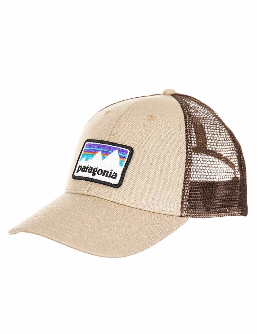 87751489f4d Patagonia Shop Sticker Patch LoPro Trucker Hat - El Cap Khaki - Hat ...