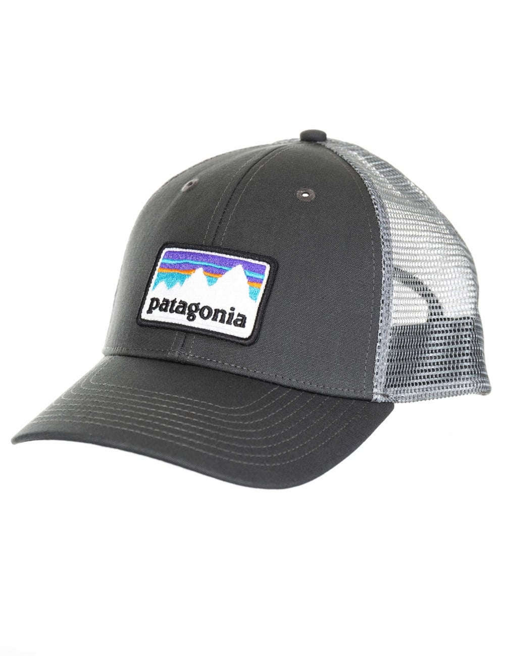 108374dc06a Patagonia Shop Sticker Patch LoPro Trucker Hat - Forge Grey - Hat ...