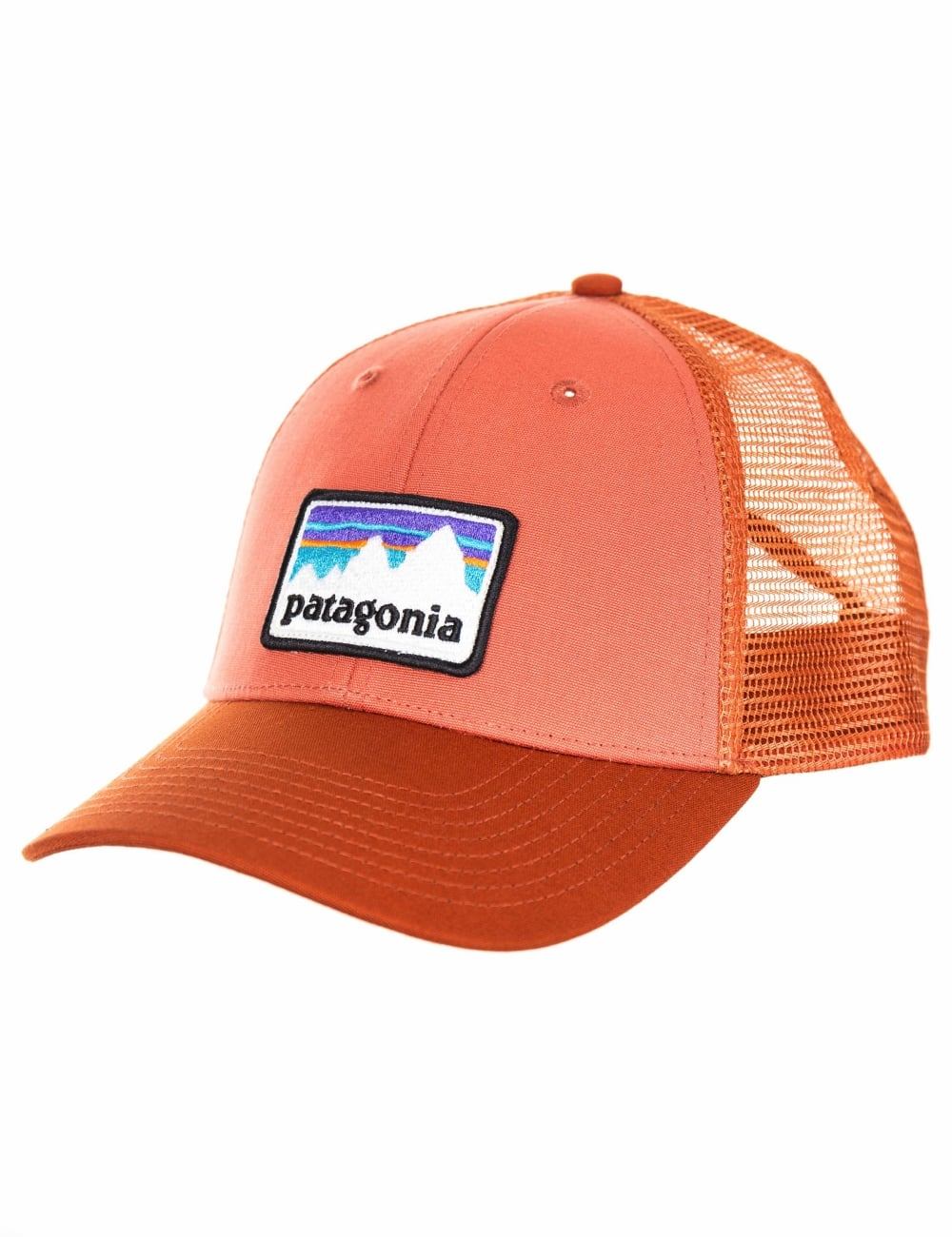 9c780aff3c2 Patagonia Shop Sticker Patch LoPro Trucker Hat - Quartz Coral - Hat ...