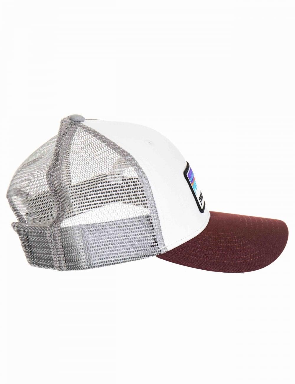 c7de5d6dd21d0d Patagonia Shop Sticker Patch LoPro Trucker Hat - White - Accessories ...