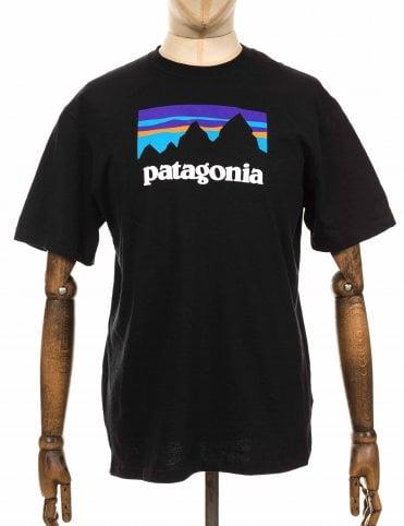 2a229619 Patagonia Shop Sticker Responsibili Tee - Black