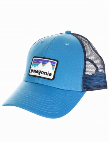 Shop Sticker Trucker Hat - Radar Blue