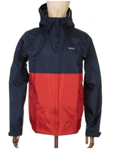 Torrentshell Jacket - Navy Blue/Ramble Red