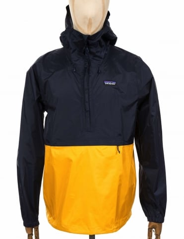 Torrentshell Pullover Jacket - Navy Blue/Rugby Yellow