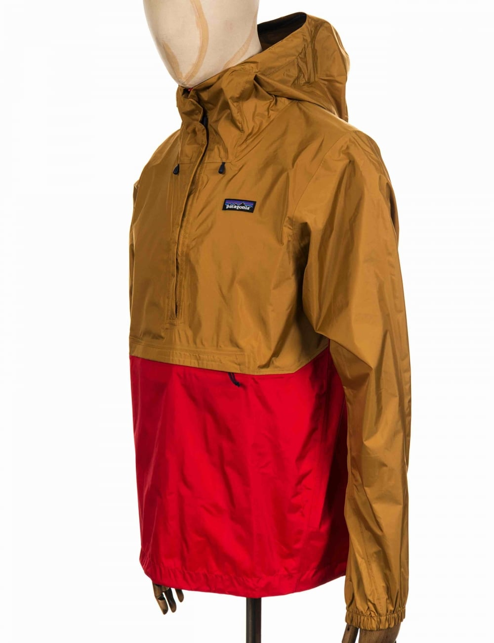 Patagonia Torrentshell Pullover Jacket - Oaks Brown/Fire ...