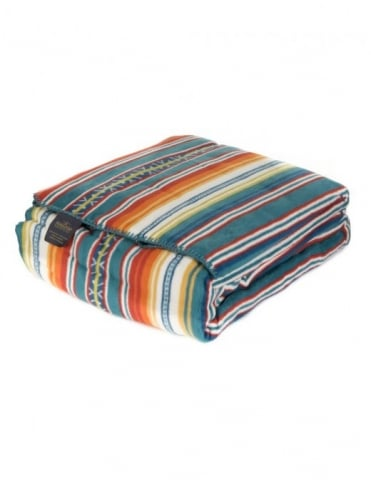 Jacquard Queen Blanket - Casa Turquoise (Cotton)