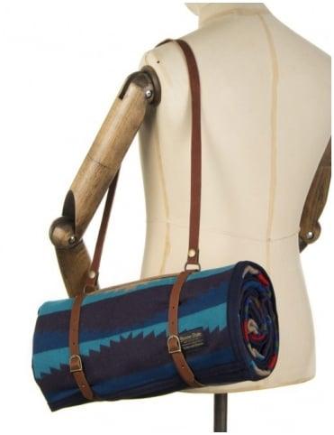Pendleton Woolen Mills Jacquard Unnap Robe W/Carrier - Aegean
