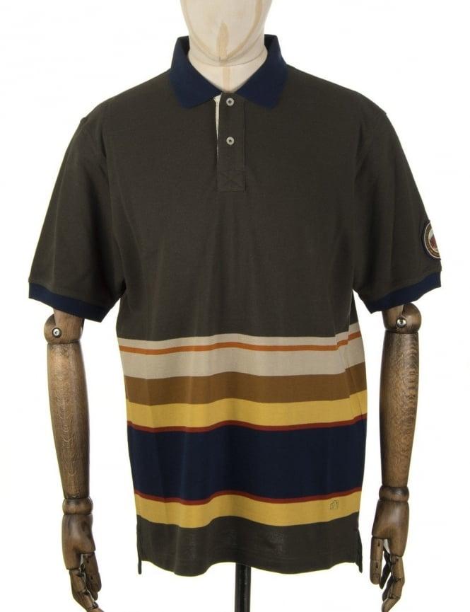Pendleton Woolen Mills National Park Polo Shirt - Badlands (Olive)
