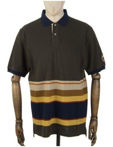 Pendleton Woolen Mills National Park Polo Shirt - Badlands (Olive)