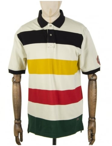 Pendleton Woolen Mills National Park Polo Shirt - Glacier Park (Cream)