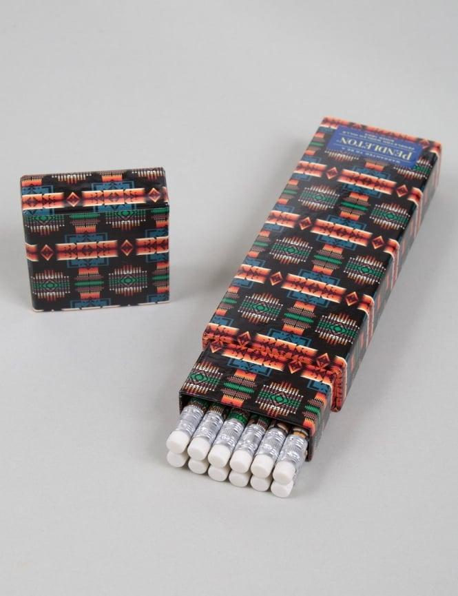 Pendleton Woolen Mills Printed Pencil Box Set (12 Pack) - Black