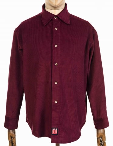 Temple Cord Shirt - Burgundy