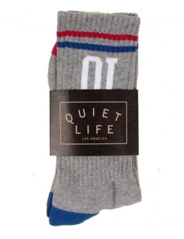 QL Athletic Sock - Heather Grey