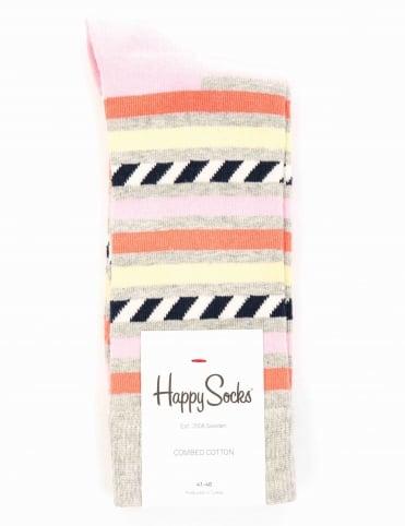 Stripes & Stripes Socks - Grey/Multi