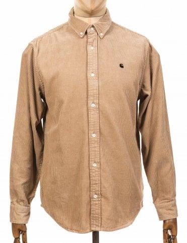 L/S Madison Cord Shirt - Wall