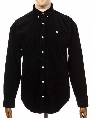 L/S Madison Cord Shirt - Black