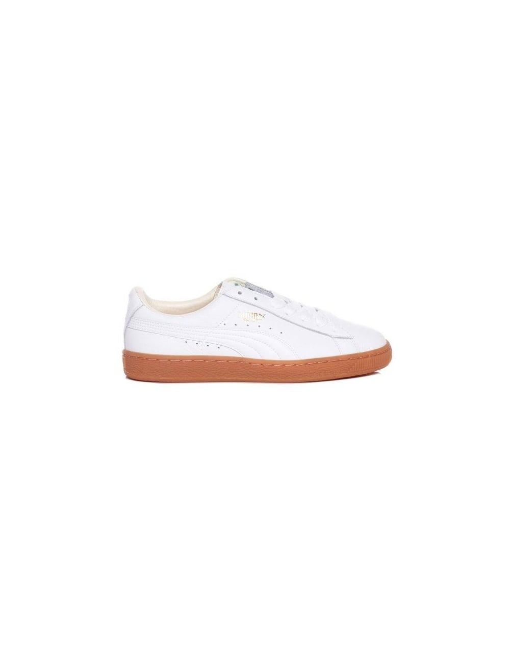 puma basket classic white gum footwear from fat buddha store uk. Black Bedroom Furniture Sets. Home Design Ideas