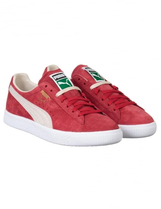 Puma Clyde OG Shoes - Red/White (Flag Pack)