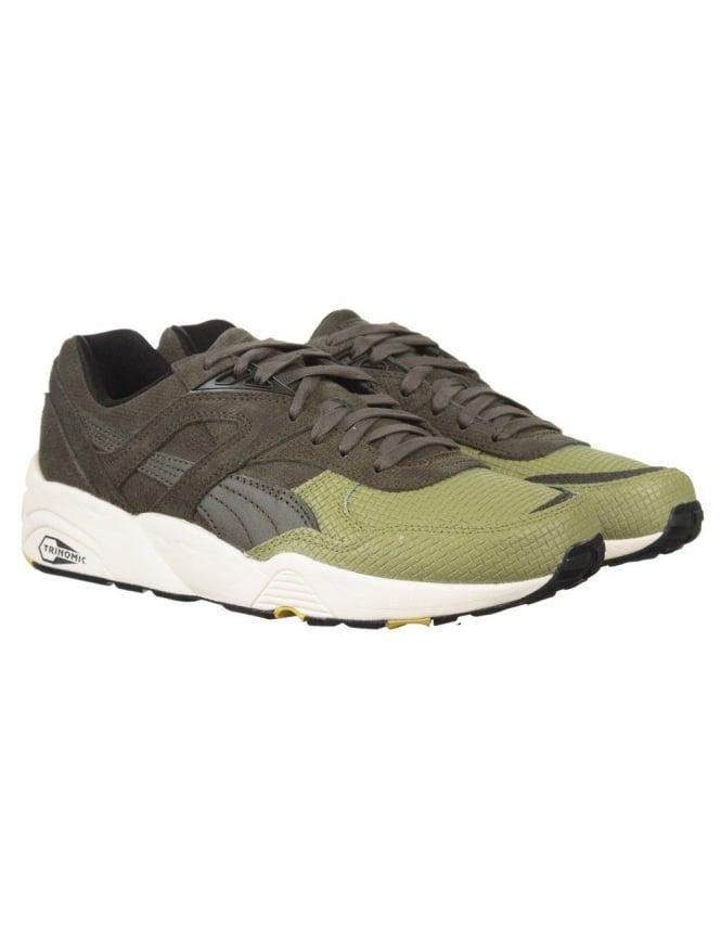 Puma R698 Q4 V2 Shoes - Forest Night