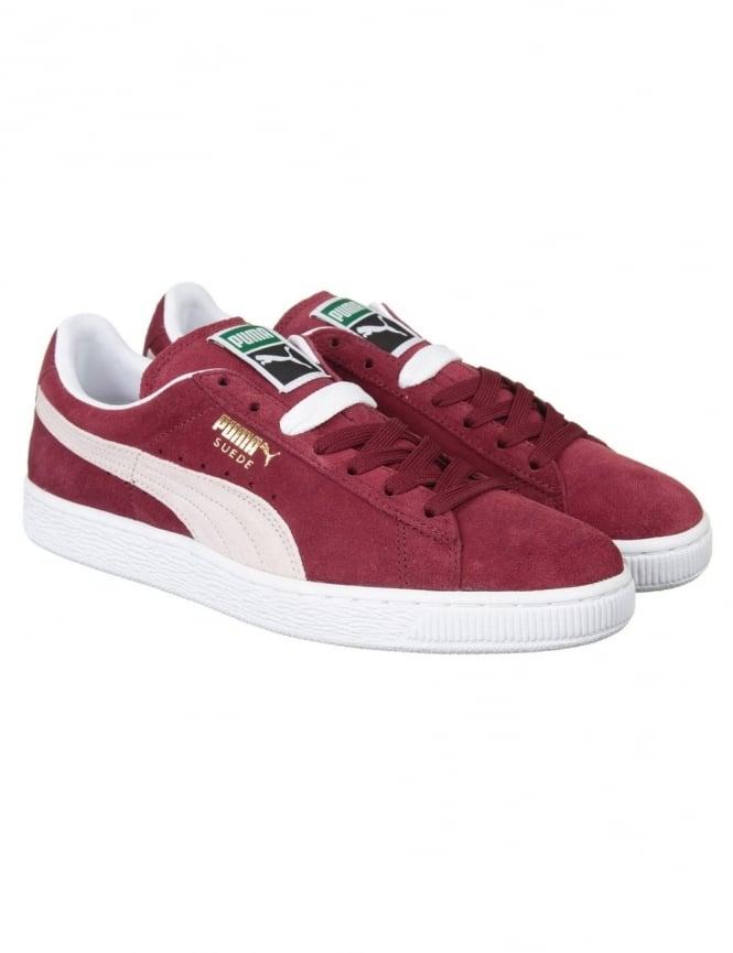 Puma Suede Classic Shoes - Cabernet/White
