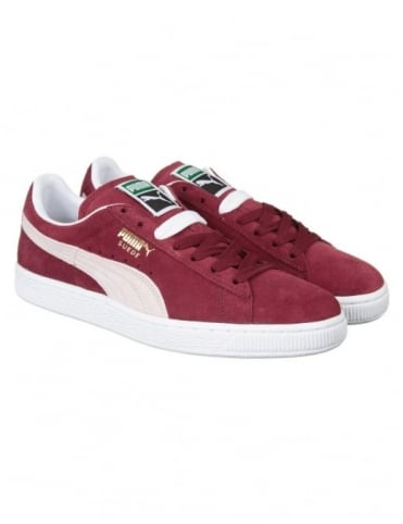 Suede Classic Shoes - Cabernet/White