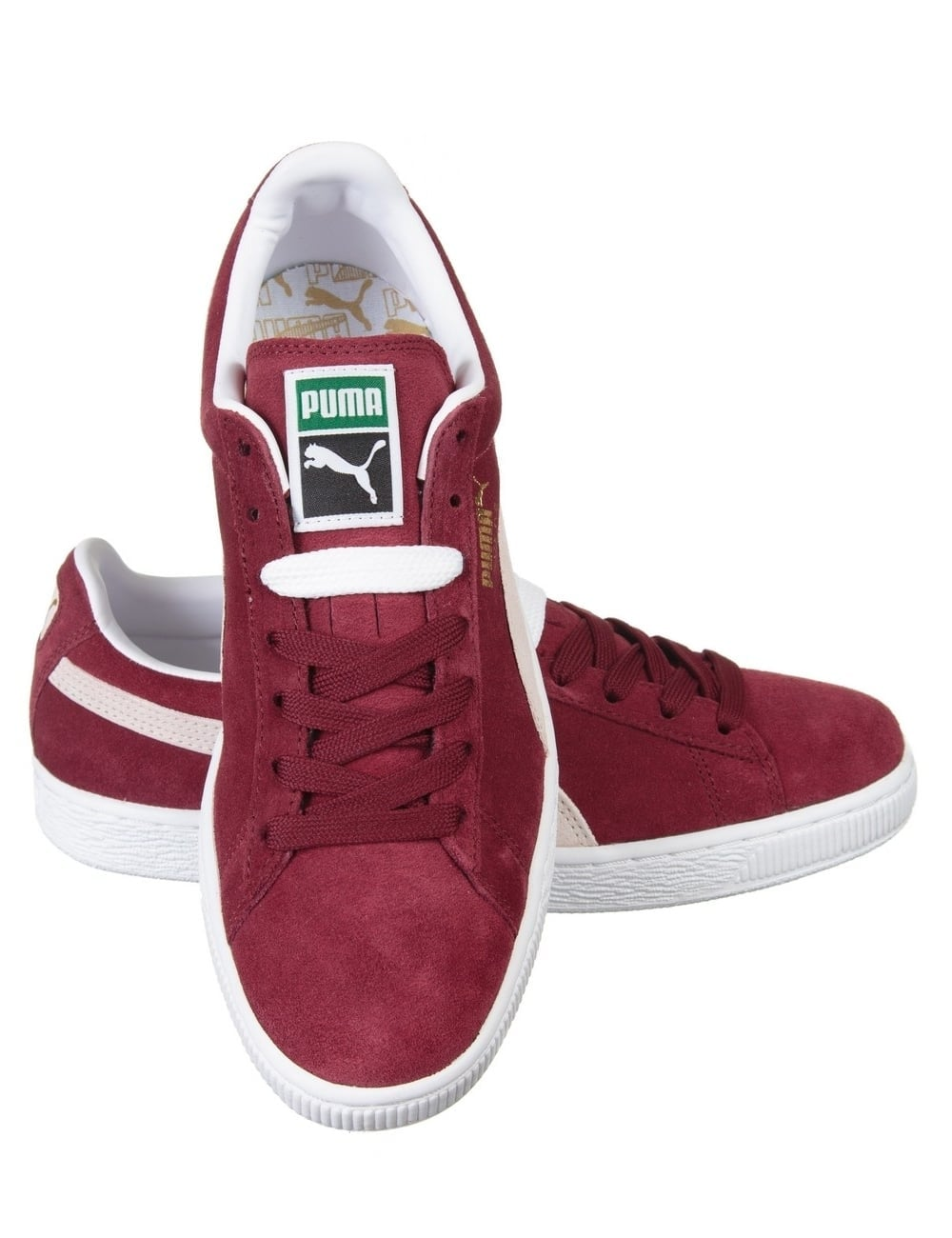 low priced 20374 36ab9 Suede Classic Shoes - Cabernet/White
