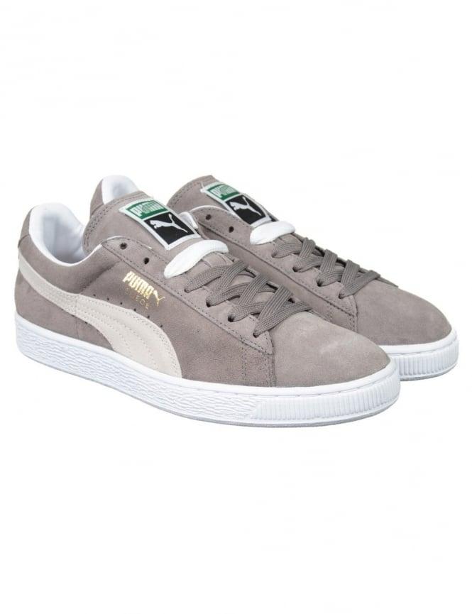 Puma Suede Classic Shoes - Grey/White