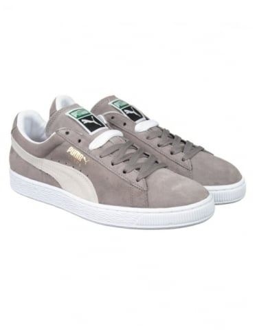 Suede Classic Shoes - Grey/White