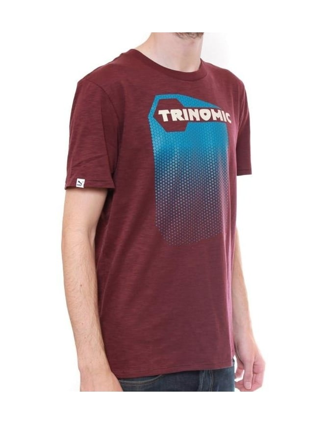 f9bc298907a1 Puma Trinomic Edition Tee - Wine - Clothing from Fat Buddha Store UK