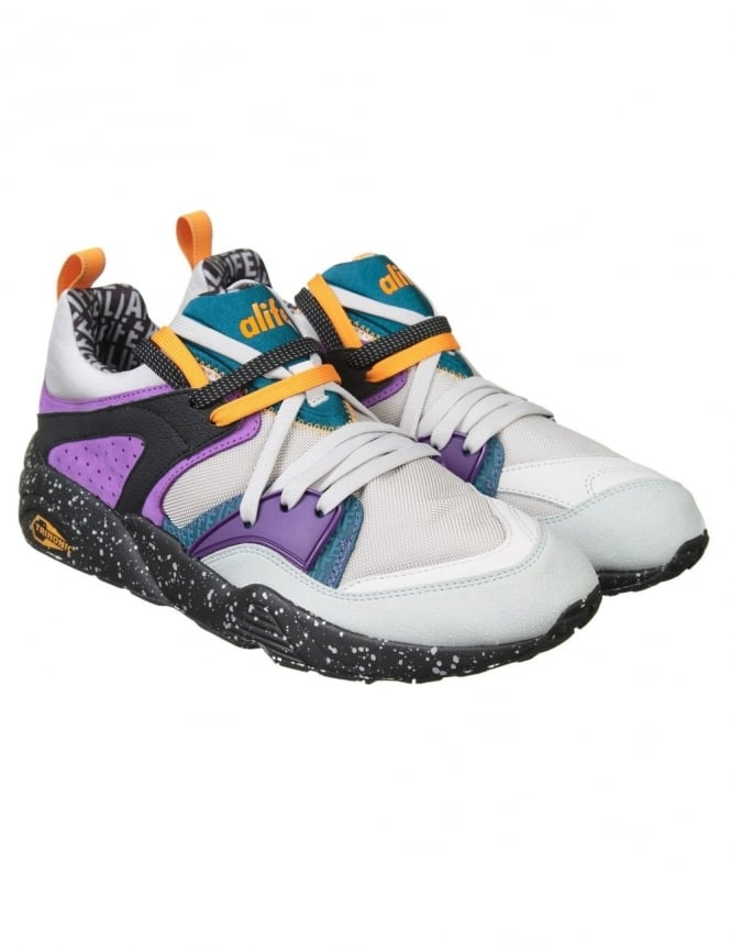 Puma x Alife Blaze of Glory Shoes - Grey/Blue Coral/Purple