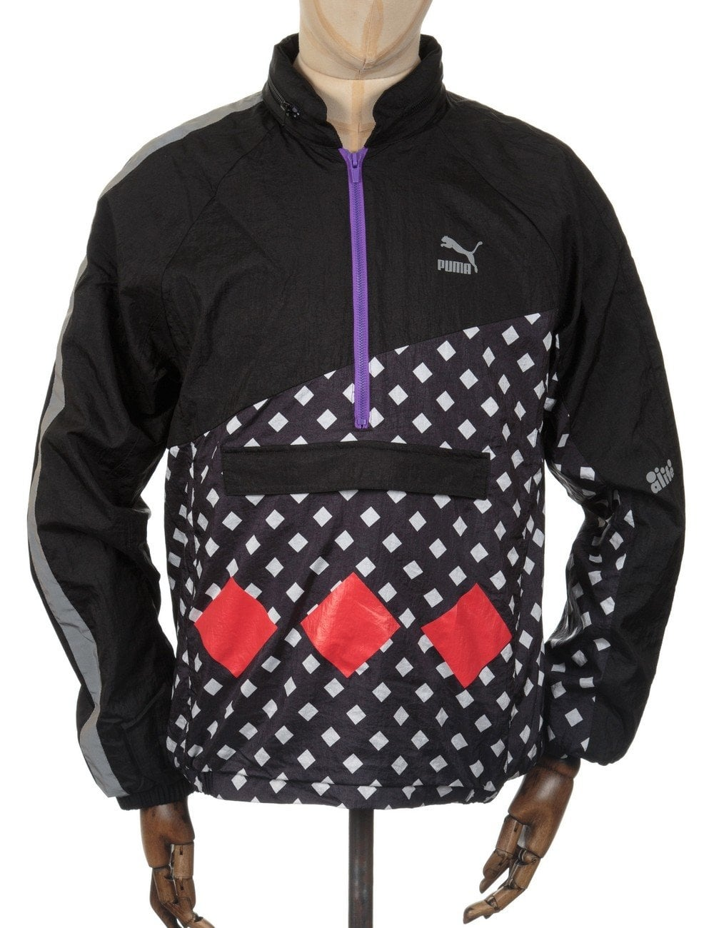 Puma x Alife Savanah Jacket - Black AOP Print - Clothing from Fat ... dc93e5f4ee79