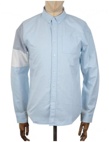 x BWGH Colourblock LS Shirt - Dusk Blue