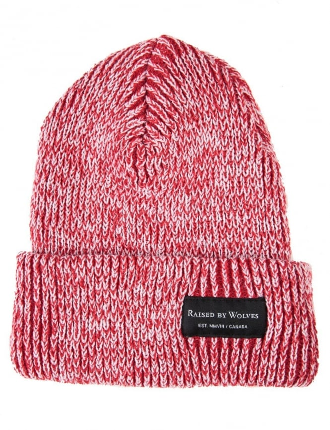 Raised by Wolves Alert Watch Beanie Hat - White/Red
