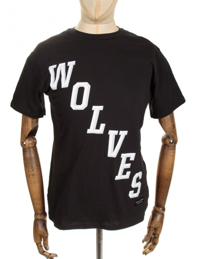 Raised by Wolves Hockey Tee - Black