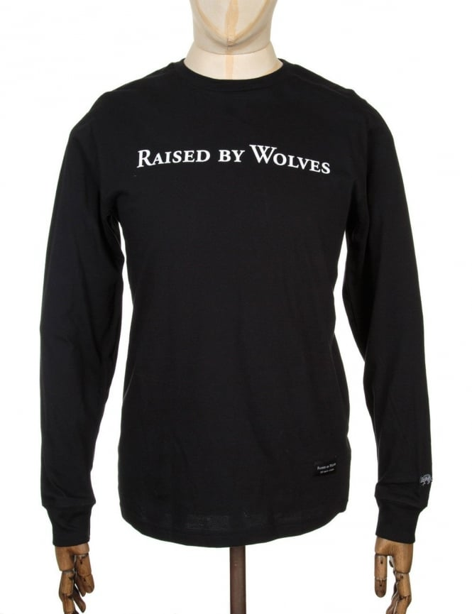 Raised by Wolves L/S Geowulf T-shirt - Black