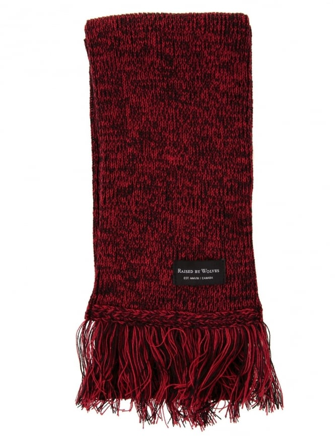 Raised by Wolves Scarf - Marled Red