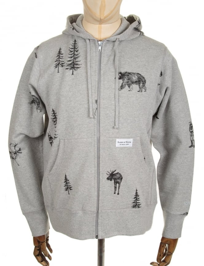 Raised by Wolves Trap Life Hooded Sweat - Heather Grey