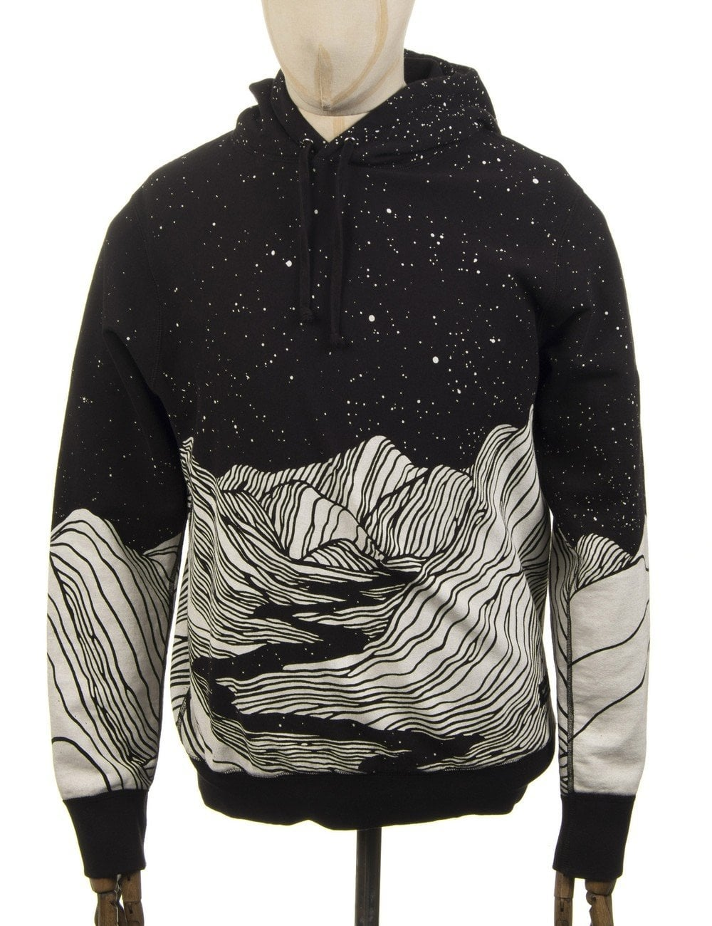eac7bcdbb7f5 Raised by Wolves Valley Hooded Sweat - Black - Clothing from Fat ...