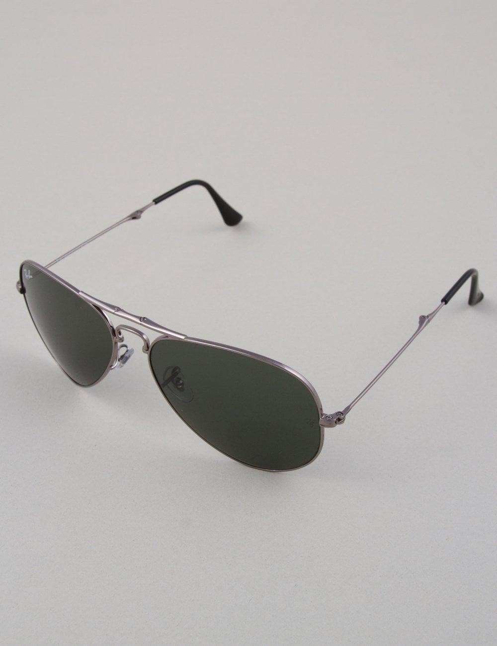 ray ban folding aviator uk  ray ban aviator folding sunglasses gunmetal // crystal green accessories from fat buddha store uk