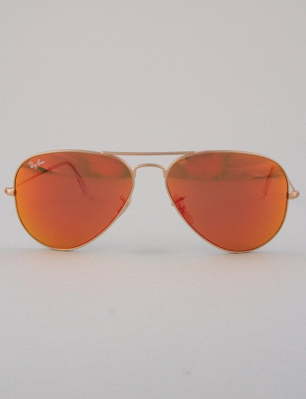 62bb70a23be Ray-Ban Aviator Large Sunglasses - Matte Gold