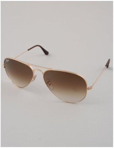 Ray-Ban Aviator Sunglasses - Gold // Crystal Brown