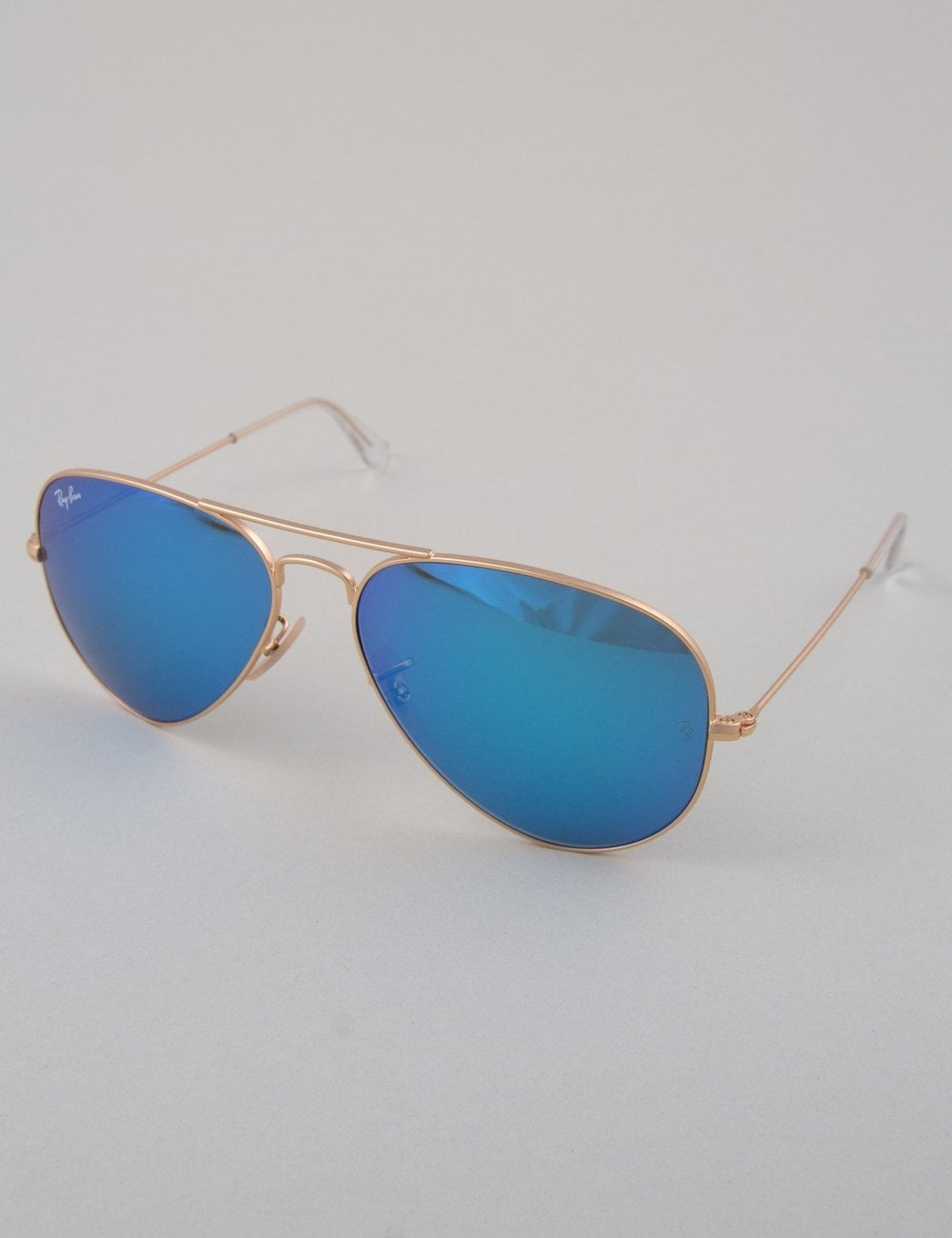 ray ban blue mirror aviator sunglasses