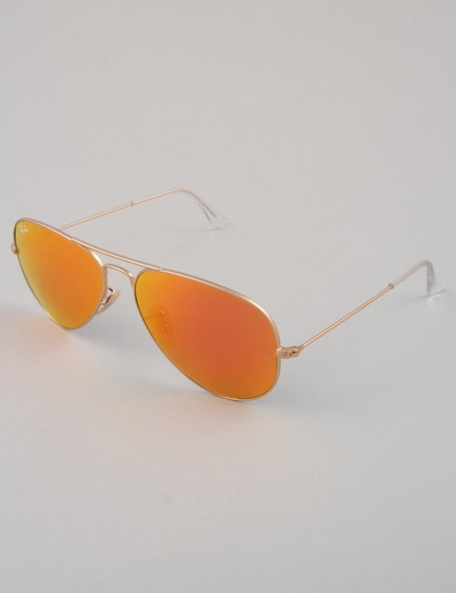 Ray-Ban Aviator Sunglasses - Gold // Mirror Orange