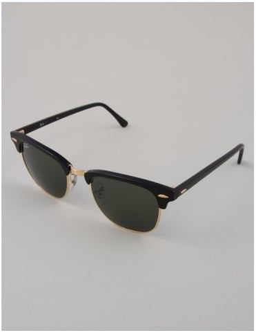 Ray-Ban Clubmaster Sunglasses - Ebony/Arista // Green