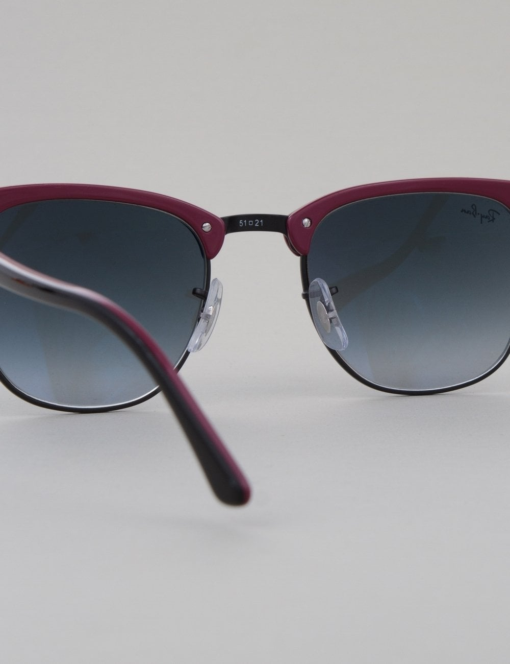 black clubmaster ray bans  Ray-Ban Clubmaster Sunglasses - Top Black Red/Black // Grey ...