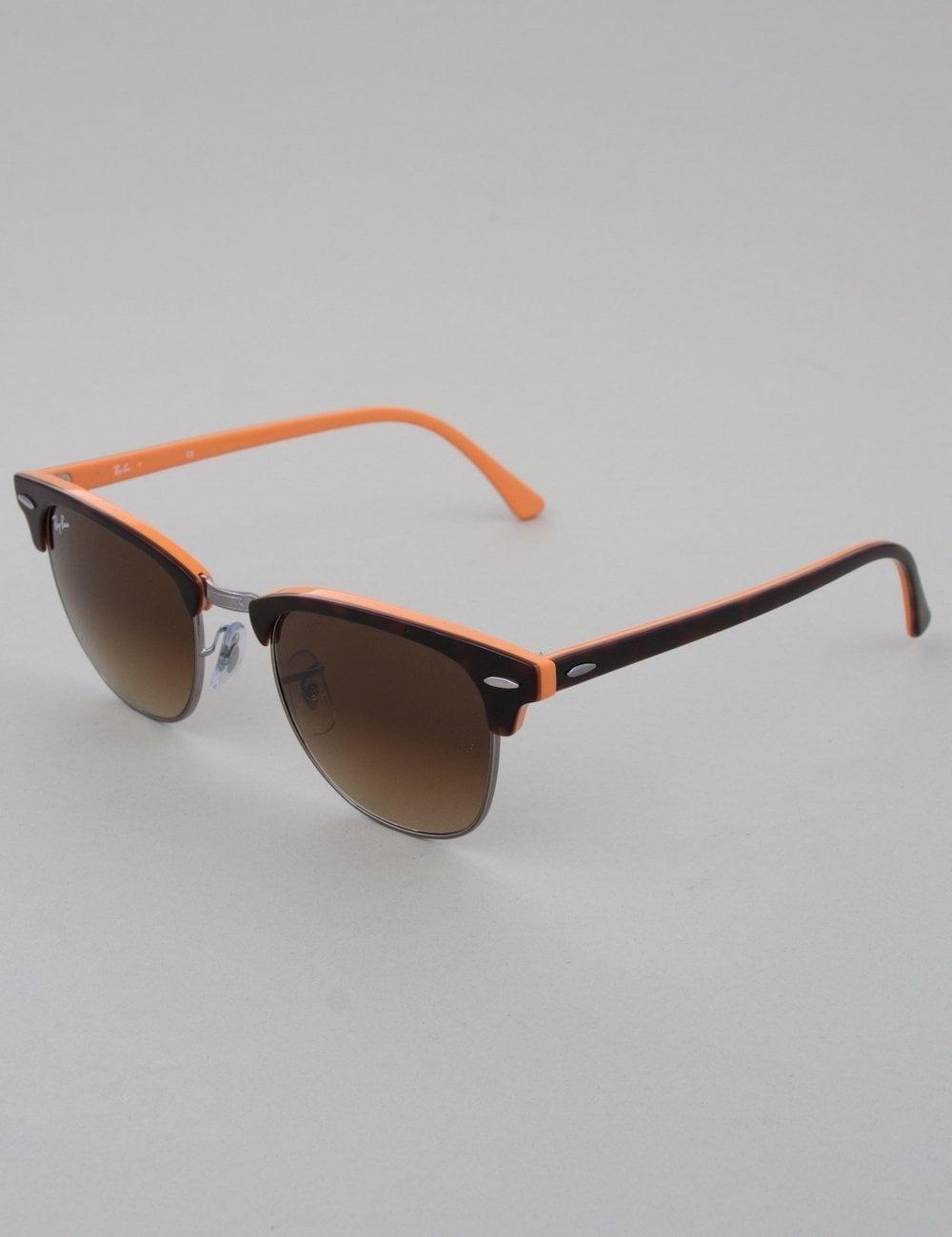 42bae1aa6f Ray-Ban Clubmaster Sunglasses - Top Dark Havana Orange    Brown Gradient
